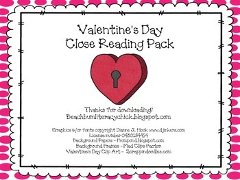 Valentine's Day - Close Reading Pack