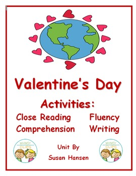 Valentine's Day Close Reading and Comprehension Activities