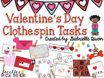 Valentine's Day Clothespin Tasks