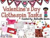 Valentine's Day Clothespin Tasks