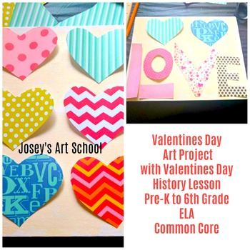 Valentines Day Collage Hearts Love Canvas Valentine History Lesson Art Project