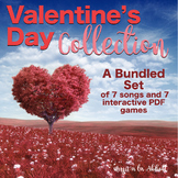 Valentine's Day Collection: PDF's and PowerPoints for the Music Classroom