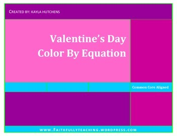 Valentine's Day Color By Equation