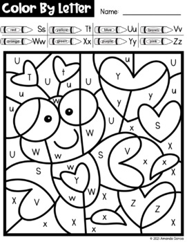Valentines Day Color By Letter