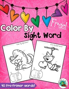 Valentine's Day Color By Sight Word/Free