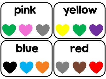 Valentine's Day Color Word Themed Centers and Emergent Reader Adapted for SPED