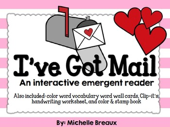 Valentine's Day Color Word Themed Centers and Emergent Rea