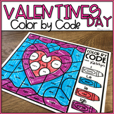Valentines Day Color by Code Long Vowels