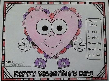 Valentine's Day Color by #  *FREEBIE*