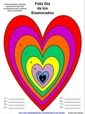 Spanish Valentine's Day Color by Number Activities - San Valentin