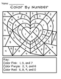 Valentine's Day Color by Number - Freebie!