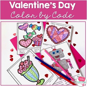 Valentine 39 s Day Color by Number