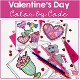 Valentine's Day Color by Code Math