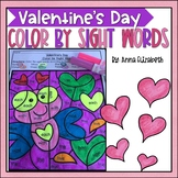 Valentines Day Color by Sight Word