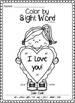 Valentine's Day Color by Sight Word (Primer)