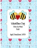 Valentines Day Color by Sight word pack