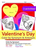 Valentine's Day Color by Synonyms & Antonyms {3 NO PREP Activities}