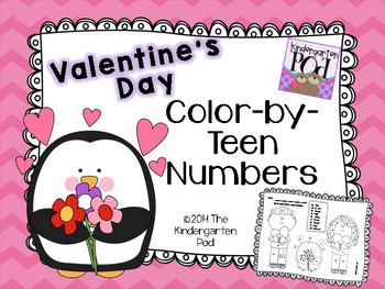Valentine's Day Color-by-Teen-Numbers!