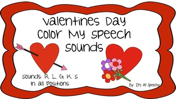Valentines Day Coloring By Speech Sounds