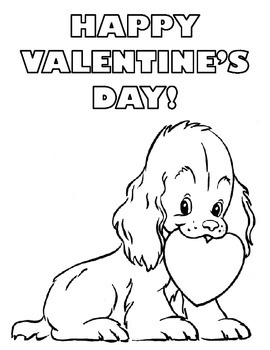 Valentine's Day Coloring Pages - Set of 5!