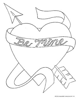 Valentines Day Coloring Pages and Printables FREE by KinderArt