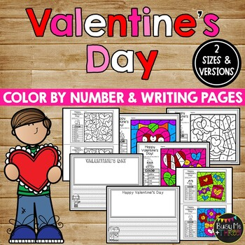 Valentine's Day Coloring Pages and Writing Sheets