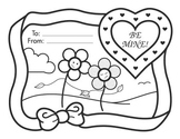 Valentine's Day Coloring Sheet - Be Mine