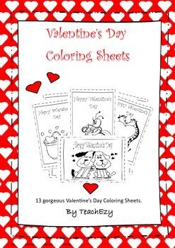 Valentine's Day Coloring-in