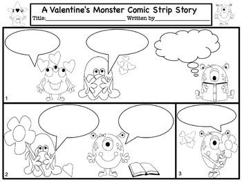 Valentine's Day Comic Strip Writing