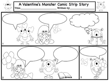 Valentine's Day Comic Strip Writing