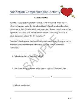 """""""Valentine's Day"""" Common Core Aligned Math & Literacy Unit - SMARTBOARD EDITION"""