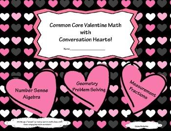 Valentine's Day Common Core Candy Hearts Math