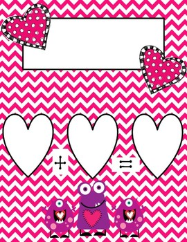 Valentine's Day Common Core Differentiated Self-Correcting Addition Problems