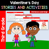 Valentine's Day Common Core Literacy - Original Stories and Activities 3rd grade
