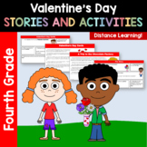 Valentine's Day Common Core Literacy - Original Stories and Activities 4th grade