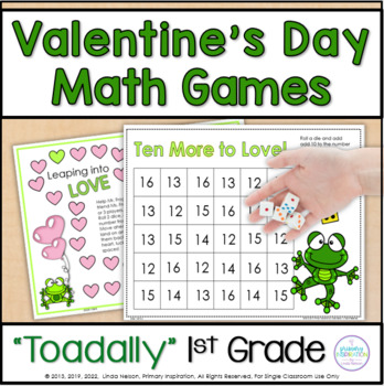 Valentines Day Frog Math Games