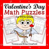 Valentine's Day Math Puzzles - 5th Grade Common Core
