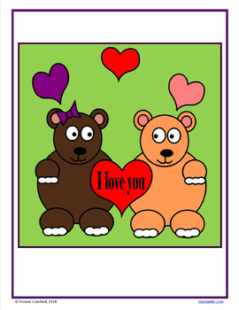 Valentine's Day Color by Number (fourth grade) Color by Multiplication