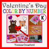 Valentine's Day Color by Number (kindergarten)  Color by Number and Shapes