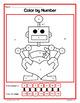 Valentine's Day Color by Number (kindergarten)  Color by N