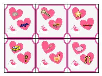 {Valentine's Day} Common Core Rhyming Literacy Center
