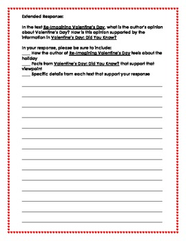Valentine's Day Common Core Test Prep - Paired Passages!