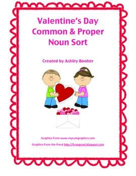 Valentine's Day Common and Proper Noun Sort