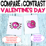 Valentine's Day compare contrast activity
