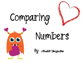 Valentine's Day Comparing Numbers Scoot/Trade Cards