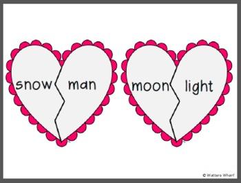Valentine's Day Compound Words - First Grade CCSS