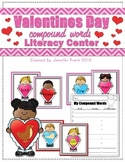 Valentines Day Compound Words Literacy Center for First Grade