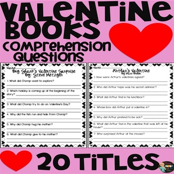 Valentine's Day Books Comprehension Questions