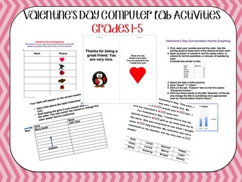 Valentine's Day Computer Lab Activities
