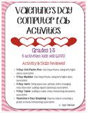 Valentine's Day Computer Lab Activities